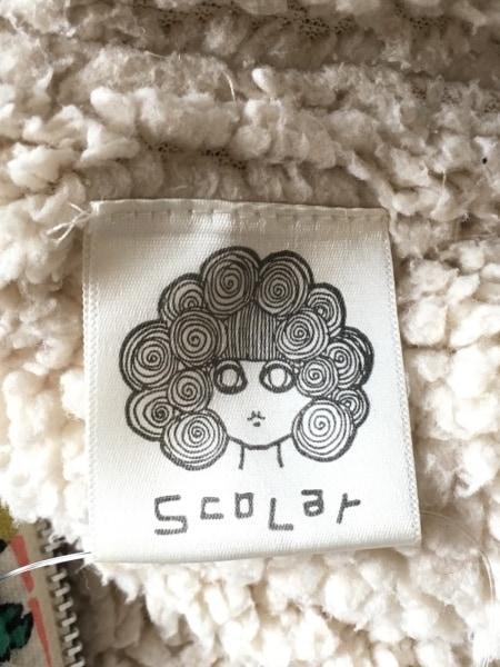 ScoLar(スカラー) ブルゾン サイズM レディース 白×黒×マルチ 冬物/ジップアップ
