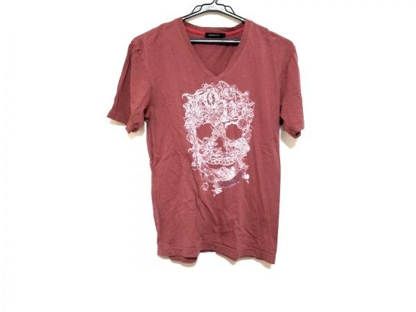 LOVELESS(ラブレス) 半袖Tシャツ サイズ1 S レディース美品  ボルドー×白×ネイビー