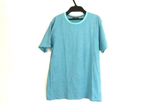 Patagonia(パタゴニア) 半袖Tシャツ サイズS メンズ ライトブルー×ブルー ボーダー