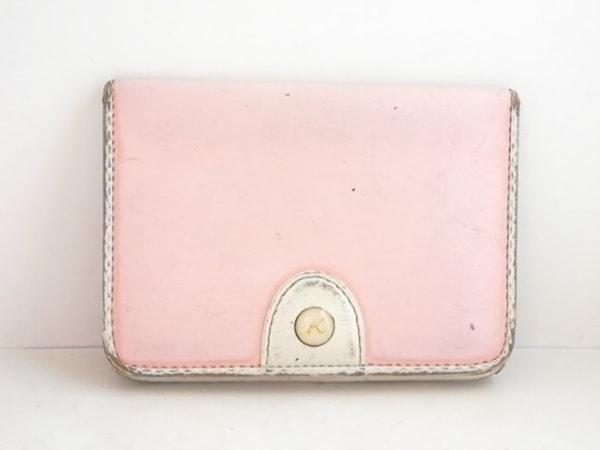 KITAMURA(キタムラ) パスケース ピンク×白 レザー 1