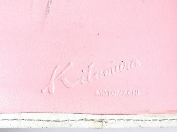 KITAMURA(キタムラ) パスケース ピンク×白 レザー 4