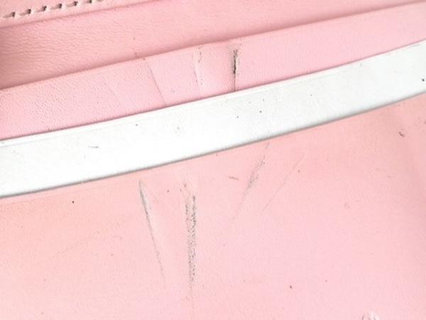 KITAMURA(キタムラ) パスケース ピンク×白 レザー 9