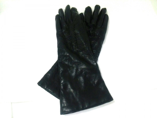 Gala Gloves(ガラグローブ) 手袋 レディース 黒 レザー×カシミヤ