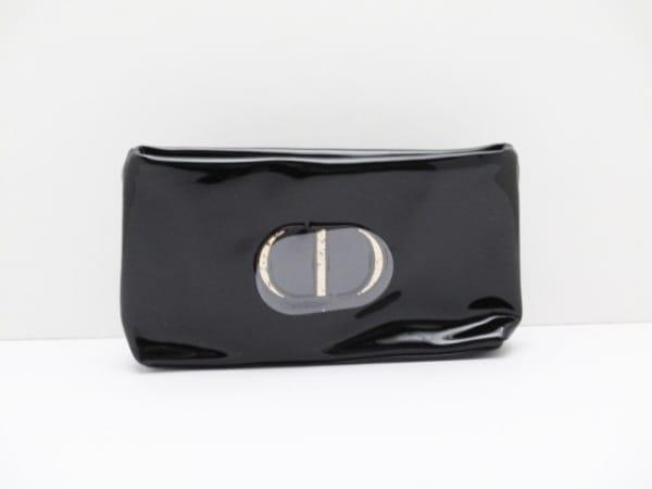 Dior Beauty(ディオールビューティー) ポーチ新品同様  黒 エナメル(合皮)