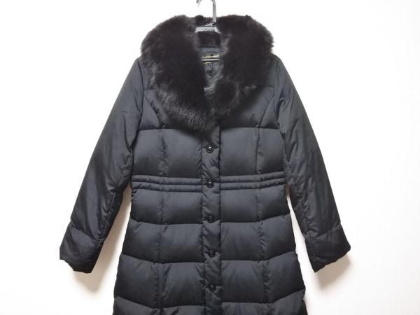 Leilian(レリアン) ダウンコート サイズ9 M レディース 黒 フォックスファー/冬物