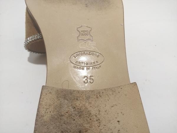 イルサンダロオブカプリ ミュール 35 レディース ライトブラウン×クリア