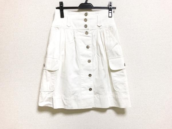 DOLCE&GABBANA(ドルチェアンドガッバーナ) スカート サイズ36 S レディース美品  白