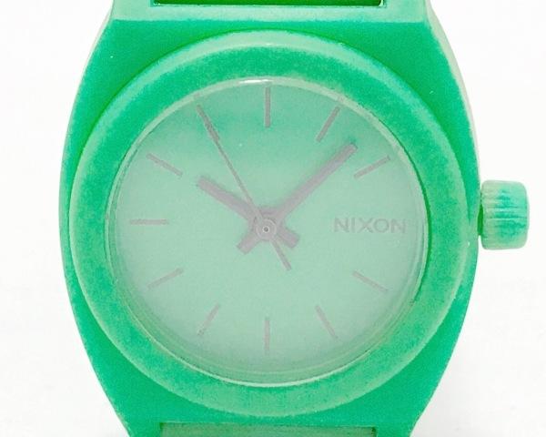 NIXON(ニクソン) 腕時計 THE TIME TELLER P 14C レディース ラバーベルト グリーン