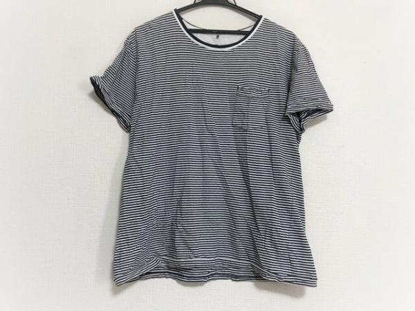 スペリー トップサイダー 半袖Tシャツ サイズLL レディース美品  ダークネイビー×白