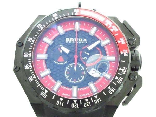 BRERA OROLOGI(ブレラオロロジ) 腕時計 AE04 BRGTC54 メンズ クロノグラフ レッド×黒