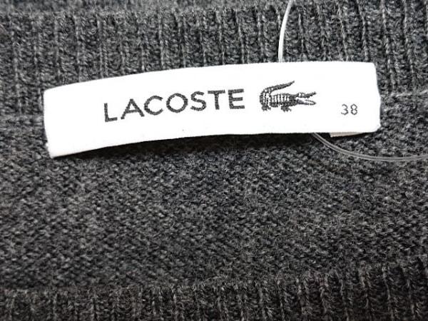 ラコステ ワンピース サイズ38 M レディース ダークグレー ニット/ラインストーン