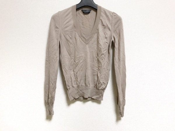 ドルチェアンドガッバーナ 長袖セーター サイズ38 S レディース美品  ダークブラウン