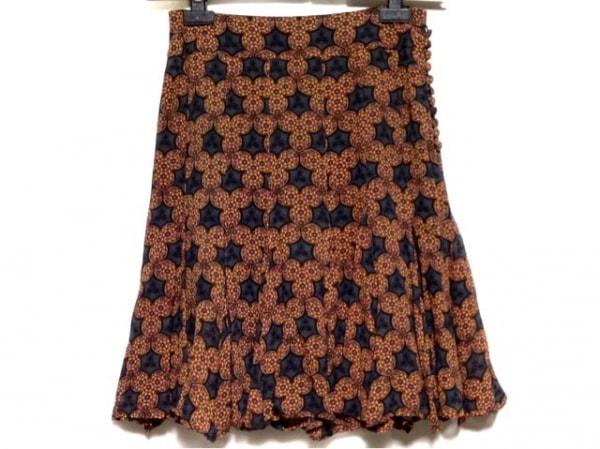 DRESS CAMP(ドレスキャンプ) スカート サイズ38 M レディース グレー×ピンク×マルチ