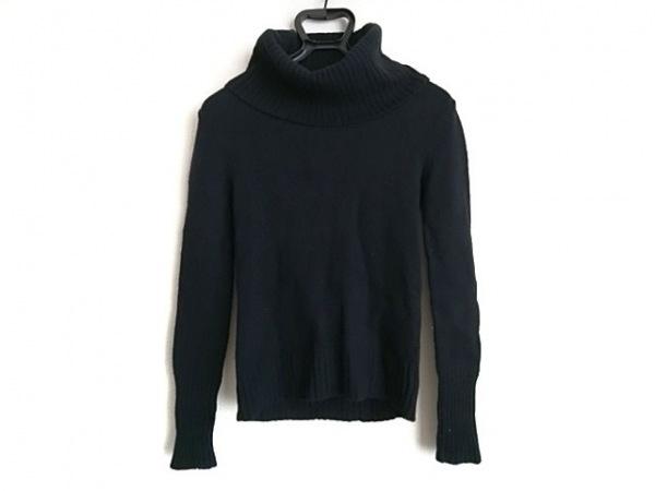 エポカザショップ 長袖セーター サイズM レディース 黒 タートルネック