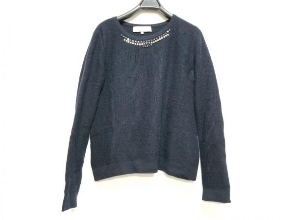 ジユウク 長袖セーター サイズ38 M レディース ダークネイビー ビジュー