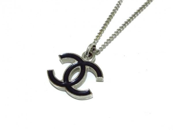 02685a74629d CHANEL(シャネル) ネックレス美品 金属素材 シルバー×黒 ココマークの ...