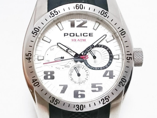POLICE(ポリス) 腕時計 12087J メンズ クロノグラフ 白