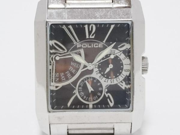 POLICE(ポリス) 腕時計 10966M メンズ ダークブラウン