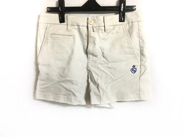 パーリーゲイツ ショートパンツ サイズ0 XS レディース ライトグレー×ブルー