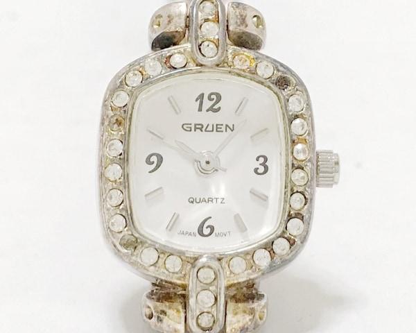 グリュエン 腕時計 - GR7723S レディース ラインストーン/フェイクパール アイボリー