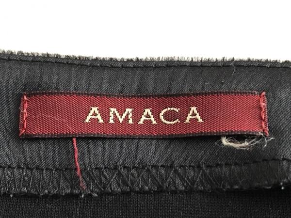 AMACA(アマカ) 長袖カットソー サイズ40 M レディース 黒 ベロア