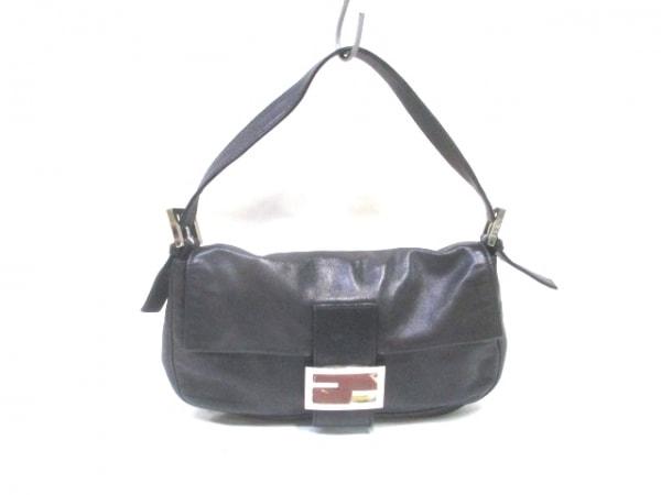 FENDI(フェンディ) ハンドバッグ マンマバケット - 黒 レザー