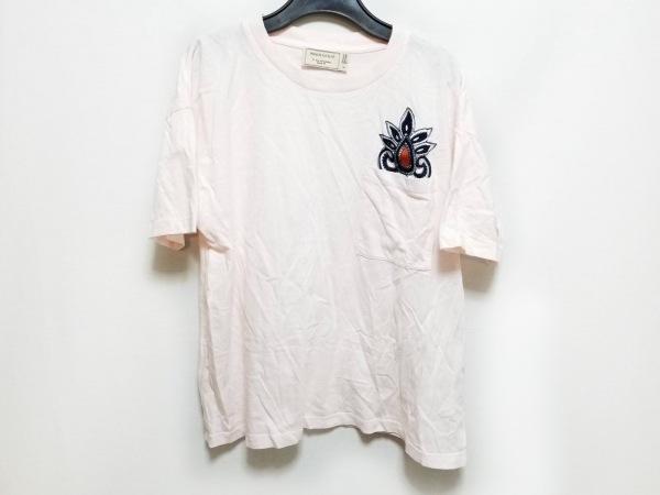 MAISON KITSUNE(メゾンキツネ) 半袖Tシャツ サイズS レディース ピンク 刺繍