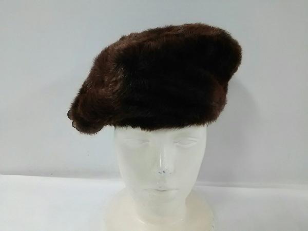 misaharada(ミサハラダ) 帽子 ブラウン アセテート×ポリエチレン
