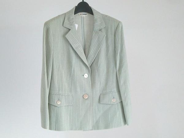 EL MIDAS(エルミダ) ジャケット サイズ11 M レディース美品  ライトブルー×白