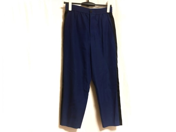 Drawer(ドゥロワー) パンツ サイズ36 S レディース ブルー×黒 ストライプ