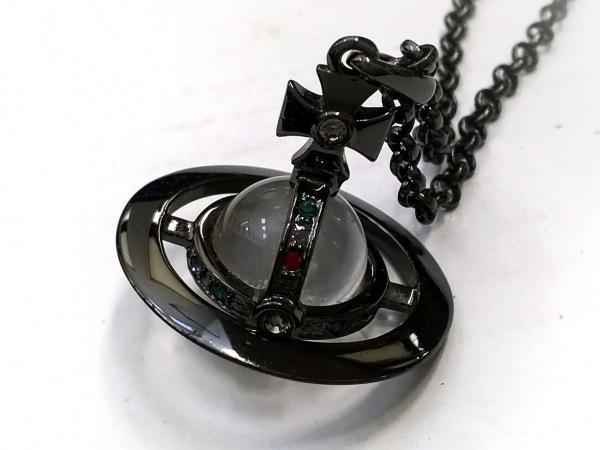 ヴィヴィアンウエストウッド ネックレス 金属素材×ガラス×ラインストーン