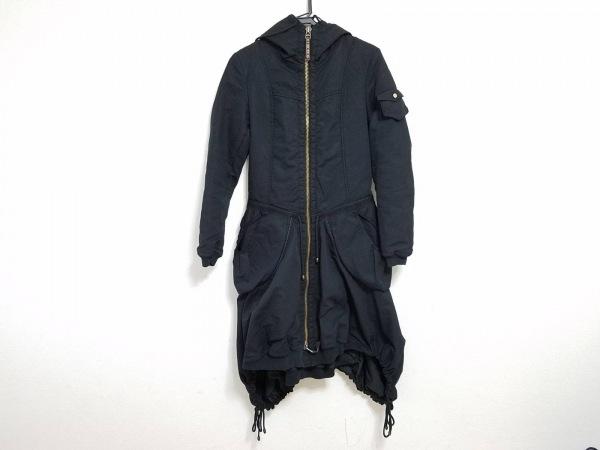 マリテフランソワジルボー コート サイズS レディース 黒 冬物/ジップアップ