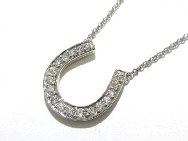 ティファニー ネックレス美品  ホースシュー ペンダント Pt950×ダイヤモンド