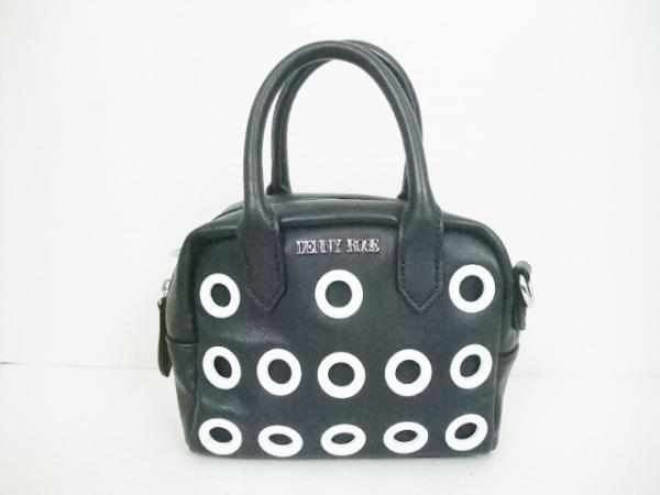 DENNY ROSE(デニーローズ) ハンドバッグ 黒×白 レザー