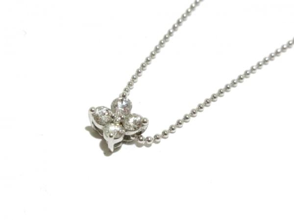 田崎真珠(タサキシンジュ) ネックレス美品  K18WG×ダイヤモンド