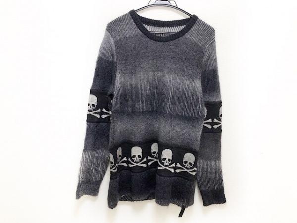 Roen(ロエン) 長袖セーター サイズ46 XL メンズ ダークグレー×黒×グレー スカル