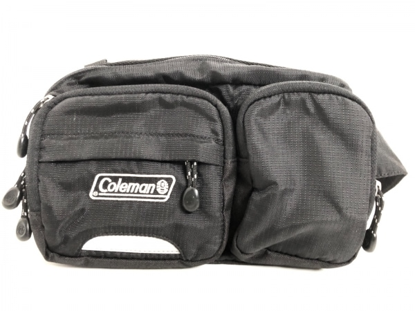 Coleman(コールマン) ウエストポーチ 黒×グレー 2way ナイロン×化学繊維
