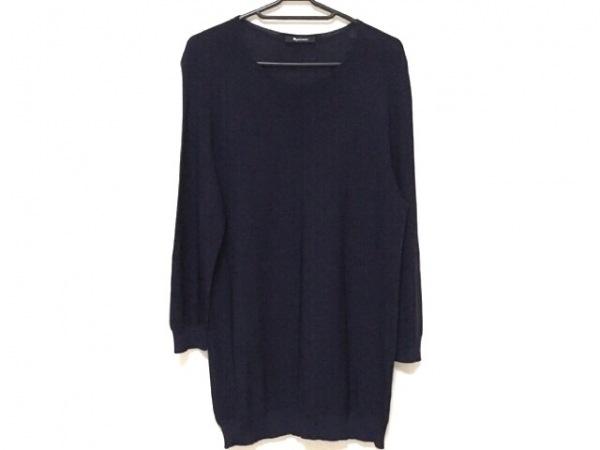 Aquascutum(アクアスキュータム) 長袖セーター サイズ8 M レディース ダークネイビー