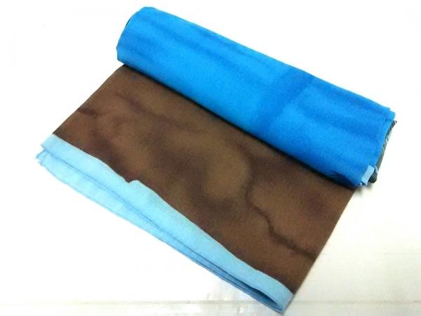 ICB(アイシービー) ストール(ショール)美品  ブルー×マルチ ポリエステル