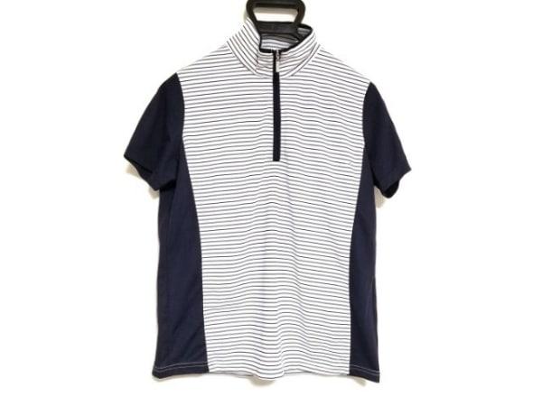 カステルバジャックスポーツ 半袖ポロシャツ サイズ3 L レディース 白×ネイビー