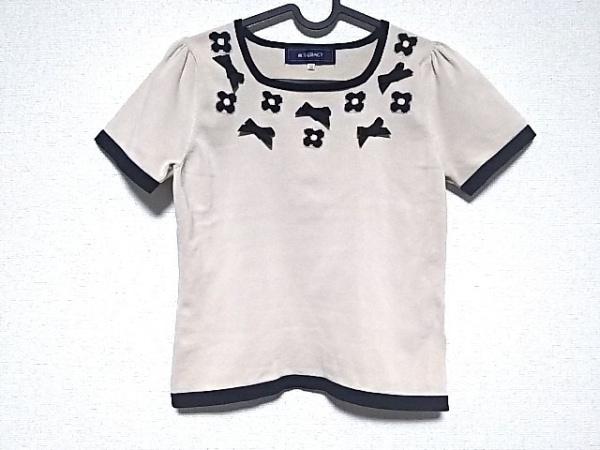 M'S GRACY(エムズグレイシー) 半袖セーター サイズ38 M レディース美品  ベージュ×黒