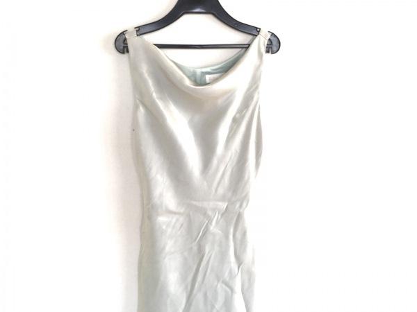 La Defence(ラデファンス) ドレス サイズ9 M レディース ライトグリーン ロング丈