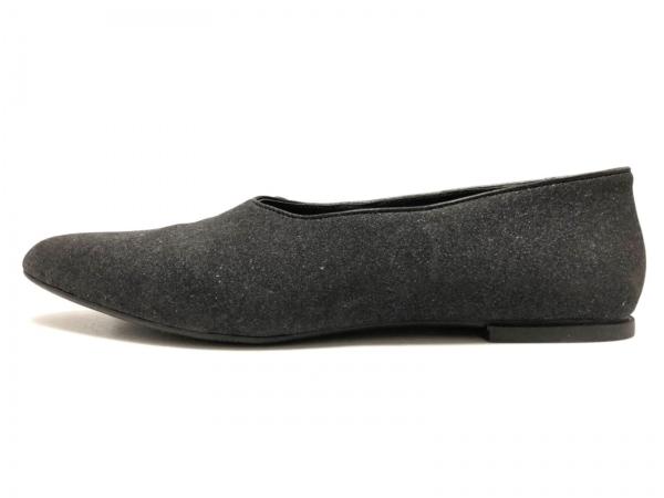 CAMPER(カンペール) フラットシューズ 40 レディース 黒 ラメ 化学繊維×レザー
