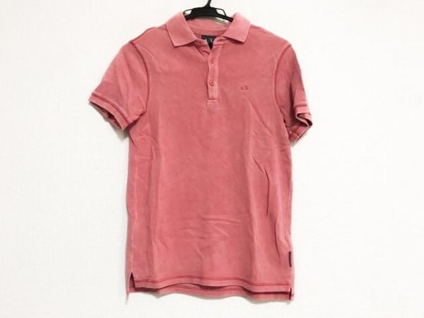 ARMANIEX(アルマーニエクスチェンジ) 半袖ポロシャツ サイズXS メンズ コーラルピンク