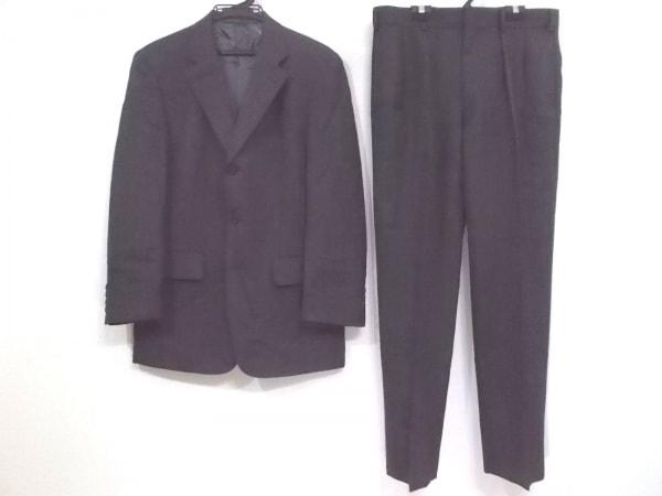 J.PRESS(ジェイプレス) シングルスーツ サイズ44 L メンズ ダークグレー 肩パッド
