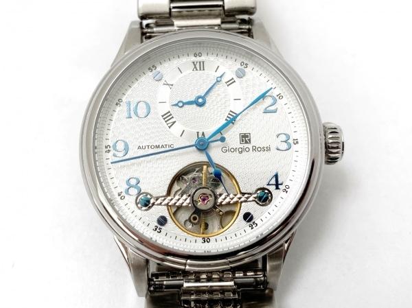 GIORGIO ROSSI(ジョルジオロッシ) 腕時計美品  GR0003 メンズ 裏スケ 白