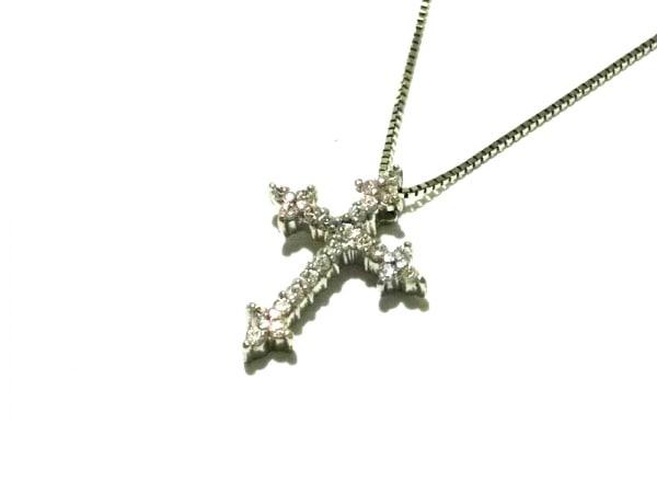 ノーブランド ネックレス美品  2939 1.6 K18×ダイヤモンド クリア 総重量1.7g