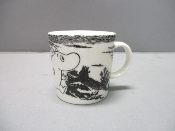 ARABIA(アラビア) マグカップ新品同様  白×黒 ムーミン 陶器