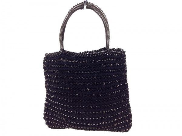 ANTEPRIMA(アンテプリマ) ハンドバッグ ワイヤーバッグ 黒×ブラウン ミニバッグ