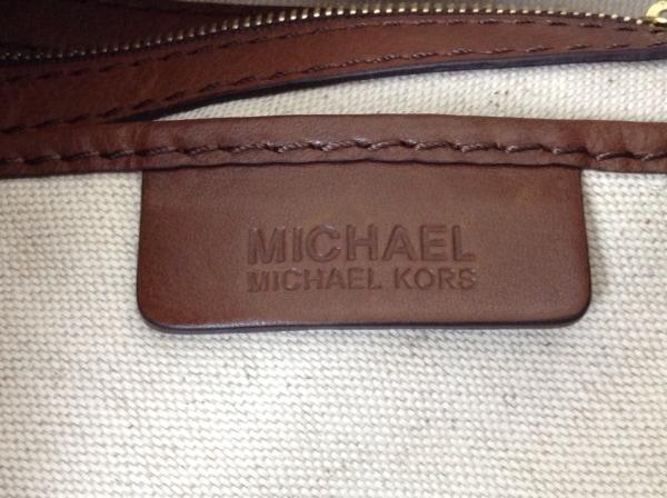 MICHAEL KORS(マイケルコース) ハンドバッグ ダークブラウン×アイボリー キリン柄